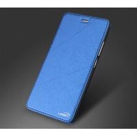 Чехол горизонтальная книжка текстура Линии на силиконовой основе для Huawei P9 Синий