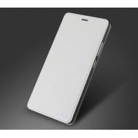 Чехол горизонтальная книжка текстура Линии на силиконовой основе для Huawei P9 Белый