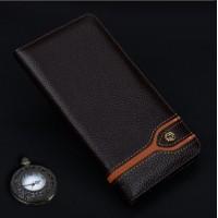 Кожаный чехол горизонтальная книжка (премиум нат. кожа) для Huawei P9 Коричневый