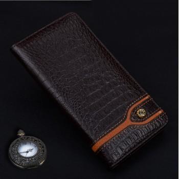 Кожаный чехол горизонтальная книжка подставка (премиум нат. кожа крокодила) для Huawei P9
