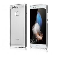 Силиконовый матовый полупрозрачный чехол текстура металл для Huawei P9 Белый