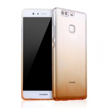 Силиконовый матовый полупрозрачный градиентный чехол для Huawei P9