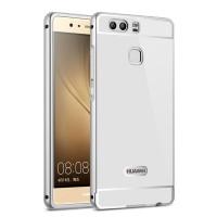 Двухкомпонентный чехол c металлическим бампером с поликарбонатной накладкой для Huawei P9 Белый