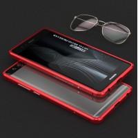 Металлический бампер сборного типа на винтах для Huawei P9 Красный