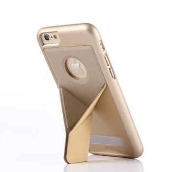 Пластиковый непрозрачный матовый чехол с подставкой оригами для Iphone 6/6s