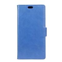 Чехол горизонтальная книжка подставка на силиконовой основе на магнитной защелке для ASUS ZenFone Go 4.5 ZB452KG Голубой