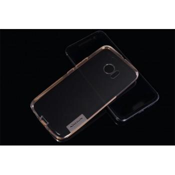 Силиконовый матовый полупрозрачный чехол повышенной защиты для HTC 10
