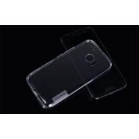 Силиконовый матовый полупрозрачный чехол повышенной защиты для HTC 10  Серый