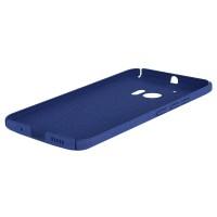 Пластиковый непрозрачный матовый чехол с повышенной шероховатостью для HTC 10  Синий