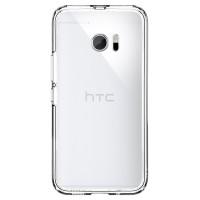 Полупрозрачный матовый премиум чехол силикон/поликарбонат с улучшенной защитой элементов корпуса для HTC 10  Белый