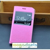 Чехол горизонтальная книжка на пластиковой основе с окном вызова для Samsung Galaxy J1 (2016) Пурпурный