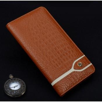 Кожаный чехол горизонтальная книжка (премиум нат. кожа крокодила) для Meizu Pro 6