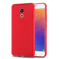 Силиконовый матовый непрозрачный чехол для Meizu Pro 6  Красный