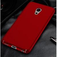 Пластиковый непрозрачный матовый чехол с улучшенной защитой элементов корпуса для Meizu Pro 6 Красный