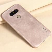 Чехол накладка текстурная отделка Кожа для LG G5  Бежевый
