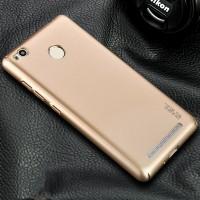 Пластиковый непрозрачный матовый чехол металлик с защитой торцев для Xiaomi RedMi 3 Pro/3S