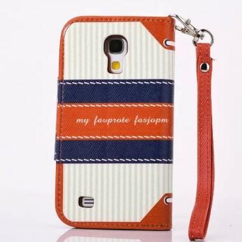 Чехол портмоне подставка на силиконовой основе с полноповерхностным принтом на магнитной защелке для Samsung Galaxy S4 Mini
