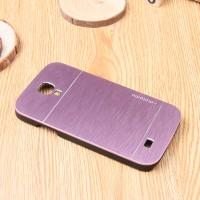 Пластиковый непрозрачный матовый чехол с текстурным покрытием Металл для Samsung Galaxy S4 Mini Розовый