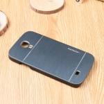 Пластиковый непрозрачный матовый чехол с текстурным покрытием Металл для Samsung Galaxy S4 Mini