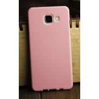 Силиконовый глянцевый непрозрачный чехол для Samsung Galaxy A3 (2016) Розовый