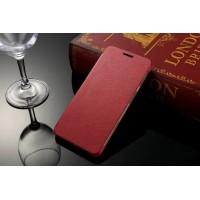 Чехол горизонтальная книжка на пластиковой основе для Samsung Galaxy A3 (2016)  Красный
