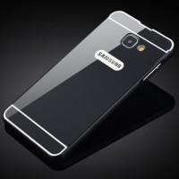 Двухкомпонентный чехол c металлическим бампером с поликарбонатной накладкой для Samsung Galaxy A3 (2016)