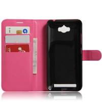 Чехол портмоне подставка на силиконовой основе на магнитной защелке для ASUS ZenFone Max  Пурпурный