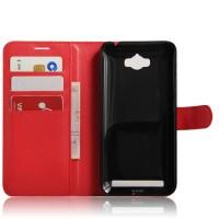 Чехол портмоне подставка на силиконовой основе на магнитной защелке для ASUS ZenFone Max  Красный