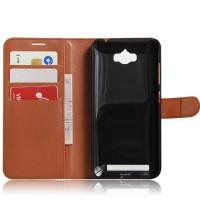 Чехол портмоне подставка на силиконовой основе на магнитной защелке для ASUS ZenFone Max  Коричневый