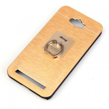 Пластиковый непрозрачный матовый металлик чехол для ASUS ZenFone Max
