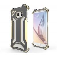 Цельнометаллический противоударный чехол из авиационного алюминия на винтах с мягкой внутренней защитной прослойкой для гаджета с прямым доступом к разъемам для Samsung Galaxy S6 Edge