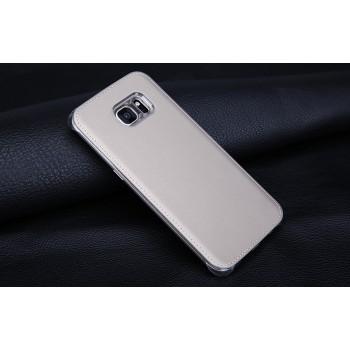 Чехол накладка текстурная отделка Кожа для Samsung Galaxy S7