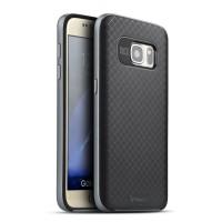 Силиконовый матовый непрозрачный чехол с поликарбонатным бампером для Samsung Galaxy S7