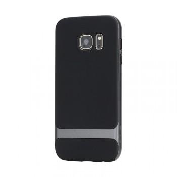 Двухкомпонентный силиконовый матовый непрозрачный чехол с поликарбонатным бампером для Samsung Galaxy S7