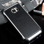 Противоударный двухкомпонентный силиконовый матовый непрозрачный чехол с поликарбонатными вставками и текстурным покрытием Кожа для Samsung Galaxy S7