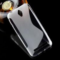 Силиконовый матовый полупрозрачный чехол с дизайнерской текстурой S для ASUS ZenFone Go 4.5  Серый