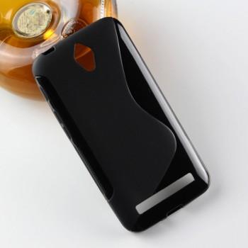 Силиконовый матовый полупрозрачный чехол с дизайнерской текстурой S для ASUS ZenFone Go 4.5