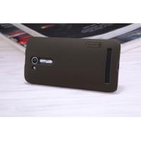 Пластиковый непрозрачный матовый нескользящий премиум чехол с повышенной шероховатостью для ASUS ZenFone Go 4.5 ZB452KG  Коричневый