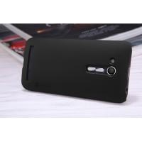 Пластиковый непрозрачный матовый нескользящий премиум чехол с повышенной шероховатостью для ASUS ZenFone Go 4.5 ZB452KG  Черный