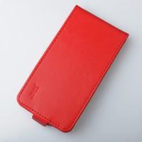 Глянцевый водоотталкивающий чехол вертикальная книжка на клеевой основе на магнитной защелке для Highscreen Spade  Красный