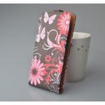 Чехол вертикальная книжка на клеевой основе с полноповерхностным принтом на магнитной защелке для Highscreen Omega Prime S