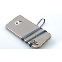 Силиконовый матовый полупрозрачный чехол с ремешком для Samsung Galaxy S7 Edge
