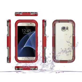 Пластиковый водостойкий полупрозрачный матовый чехол с улучшенной защитой элементов корпуса для Samsung Galaxy S7 Edge