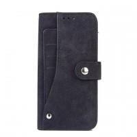Чехол портмоне на силиконовой основе с тканевым покрытием на магнитной защелке для Samsung Galaxy S7 Edge