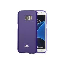 Силиконовый глянцевый непрозрачный чехол для Samsung Galaxy S7 Edge  Фиолетовый