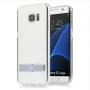 Силиконовый матовый полупрозрачный премиум чехол с встроенной ножкой-подставкой для Samsung Galaxy S7