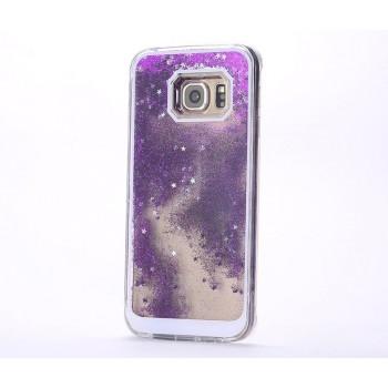 Пластиковый полупрозрачный матовый чехол с внутренней аква-аппликацией для Samsung Galaxy S7