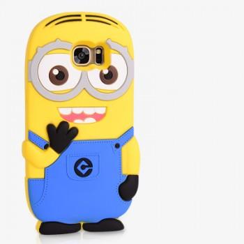 Силиконовый матовый непрозрачный дизайнерский фигурный чехол для Samsung Galaxy S7 Edge