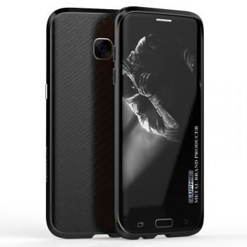 Двухкомпонентный премиум чехол c металлическим бампером с поликарбонатной накладкой для Samsung Galaxy S7 Edge