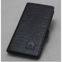 Кожаный чехол горизонтальная книжка подставка с отделкой Крокодил на пластиковой основе на магнитной защелке для Huawei Honor 5X